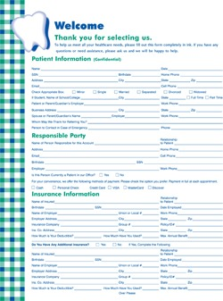 Patient Forms | Dr. Lorie Baumgardner Dental Office